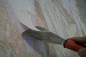 Счищаем шпателем намокшие обои. фото 4