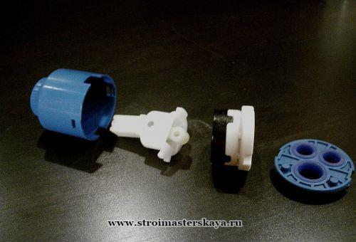 Картридж для смесителя в разобранном виде (фотография)