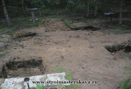 Углубления в грунте под плиты фундамента (фото)